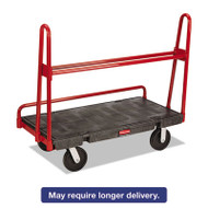A-Frame Panel Truck, 2000-lb Cap, 24 1/4w x 48d x 45h, Black/Red
