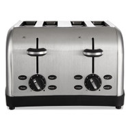 Extra Wide Slot Toaster, 4-Slice, 12 3/4 x 13 x 8 1/2, Stainless Steel