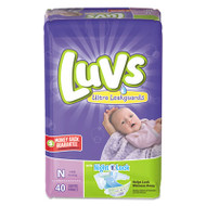 Diapers w/Leakguard, Newborn: 4 to 10 lbs, 40/Pack, 4 Pack/Carton