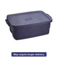 Roughneck Storage Box, 10 gal, Dark Indigo Metallic, 8/Carton