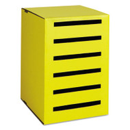 Classroom Keepers Homework Collector, Yellow, 6 Compartments, 13 x 14 x 18