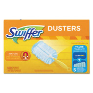 "Dusters Starter Kit, Dust Lock Fiber, 6"" Handle, Blue/Yellow, 6/Carton"