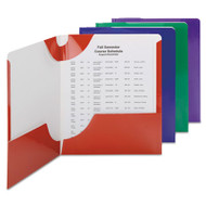 Campus.org Lockit Two-Pocket Folder, 11 x 8 1/2, Assorted, 8/Pack