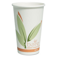 Bare Eco-Forward PCF Hot Cups, Paper, Green/White, 16 oz, 300/Carton