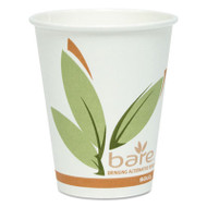 Bare Eco-Forward PCF Hot Cups, Paper, Green/White, 8 oz, 400/Carton