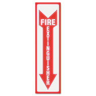Glow In The Dark Sign, 4 x 13, Red Glow, Fire Extinguisher