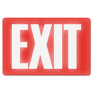 Glow In The Dark Sign, 8 x 12, Red Glow, Exit
