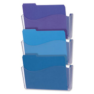 3 Pocket Wall File Starter Set, Letter, Clear