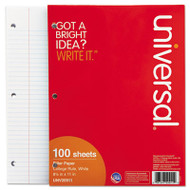 Mediumweight 16-lb. Filler Paper, 8 1/2 x 11, College Rule, White, 100 Sheets/PK