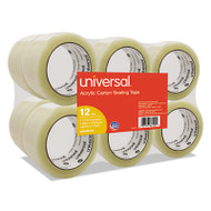 """General-Purpose Acrylic Box Sealing Tape, 48mm x 100m, 3"""" Core, Clear, 12/Pack"""