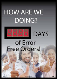 HOW ARE WE DOING  DAYS OF ERROR FREE ORDERS SCOREBOARD
