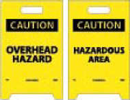 CAUTION OVERHEAD HAZARD DOUBLE-SIDED FLOOR SIGN