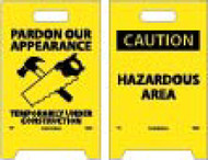 CAUTION HAZARDOUS AREA DOUBLE-SIDED FLOOR SIGN