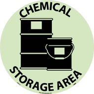 CHEMICAL STORAGE AREA GLOW WALK ON FLOOR SIGN