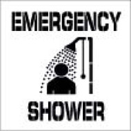 EMERGENCY SHOWER PLANT MARKING STENCIL