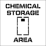 CHEMICAL STORAGE AREA PLANT MARKING STENCIL