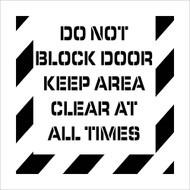 DO NOT BLOCK DOOR  PLANT MARKING STENCIL