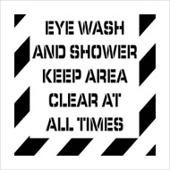 EYE WASH AND SHOWER  PLANT MARKING STENCIL