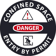 DANGER CONFINED SPACE ENTRY BY PERMIT