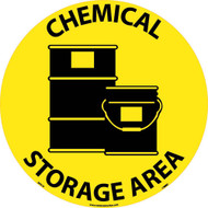 CHEMICAL STORAGE AREA WALK ON FLOOR SIGN