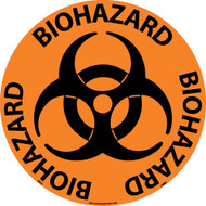 BIOHAZARD WALK ON FLOOR SIGN