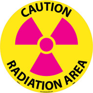 CAUTION RADIATION AREA WALK ON FLOOR SIGN
