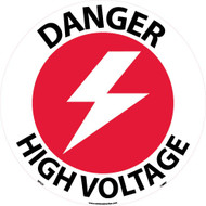 DANGER HIGH VOLTAGE WALK ON FLOOR SIGN