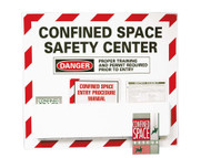 CONFINED SPACE SAFETY CENTER PAPER HAZARD SIGN