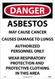 ASBESTOS DUST HAZARD  PAPER SIGN