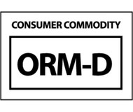 CONSUMER COMMODITY ORM-D HAZMAT LABEL