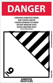 DANGER ASBESTOS LABEL