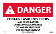 DANGER CONTAINS ASBESTOS FIBERS DUST WARNING LABEL