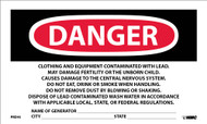 CONTAINS LEAD CONTAMINATES HAZARD WARNING LABEL