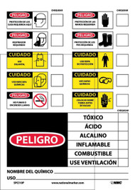 CHEMICAL ID LABEL SPANISH