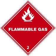 BLANK FLAMMABLE DOT LABEL