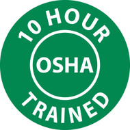 10 HOUR OSHA TRAINED HARD HAT EMBLEM