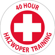 40 HOUR HAZWOPER TRAINING HARD HAT EMBLEM