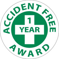 ACCIDENT FREE 1 YEAR AWARD HARD HAT EMBLEM