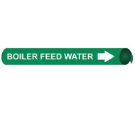 BOILER FEED WATER PRECOILED/STRAP-ON PIPE MARKER