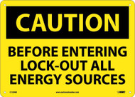 CAUTION LOCK OUT ALL SOURCES SIGN