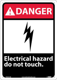DANGER ELECTRICAL HAZARD DO NOT TOUCH SIGN
