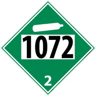 1072 2 DOT PLACARD SIGN