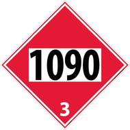 1090 3 DOT PLACARD SIGN