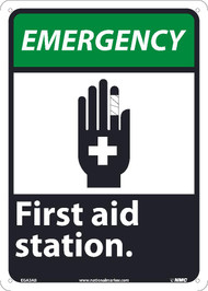 EMERGENCY FIRST AID STATION SIGN
