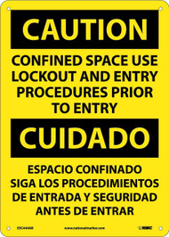 CAUTION CONFINED SPACE SIGN - BILINGUAL