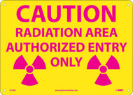 CAUTION RADIATION AREA AUTHORIZED ENTRY ONLY SIGN