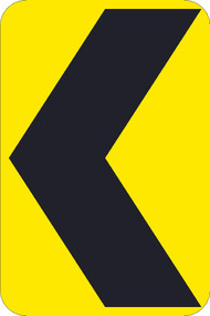 (GRAPHIC CHEVRON ARROW) TRAFFIC SIGN