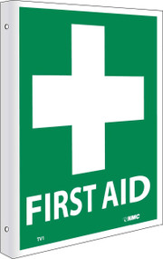 2-VIEW FIRST AID SIGN