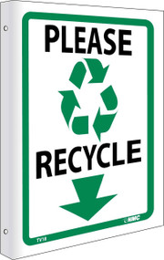 2-VIEW PLEASE RECYCLE SIGN