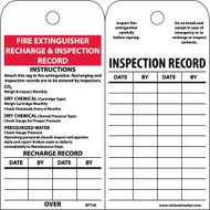 FIRE EXTINGUISHER RECHARGE & INSPECTION RECORD INSTRUCTIONS TAG